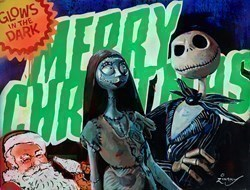 The Nightmare Before Christmas by Zinsky -  sized 35x28 inches. Available from Whitewall Galleries